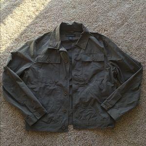 5cf1d289c8 ... Banana Republic olive army green shirt jacket Vintage ...